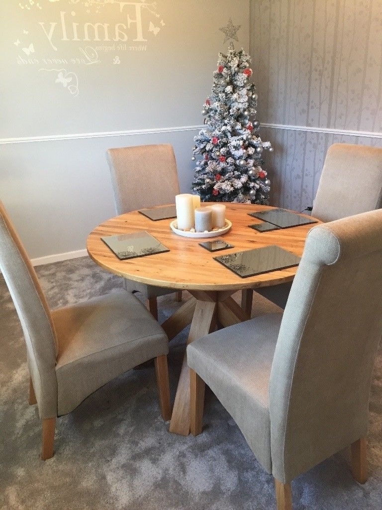 In intended for Most Popular Oak Round Dining Tables And Chairs