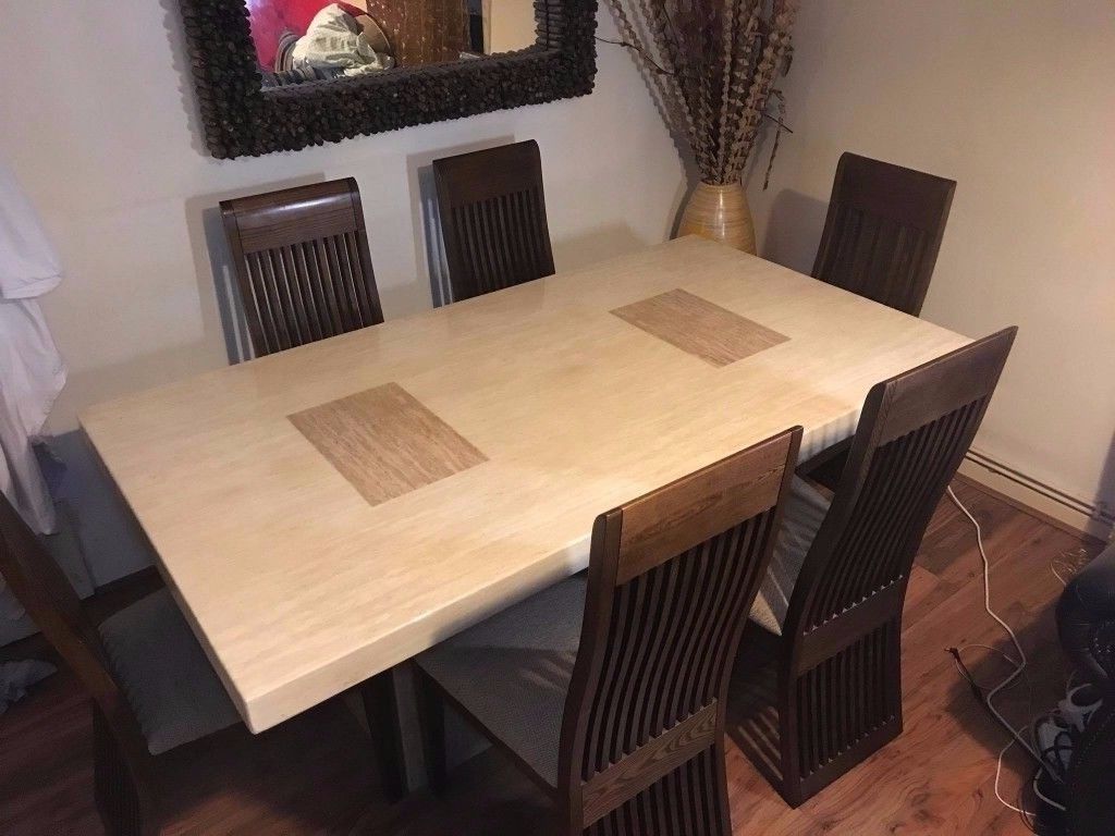 In Intended For Solid Marble Dining Tables (View 9 of 25)