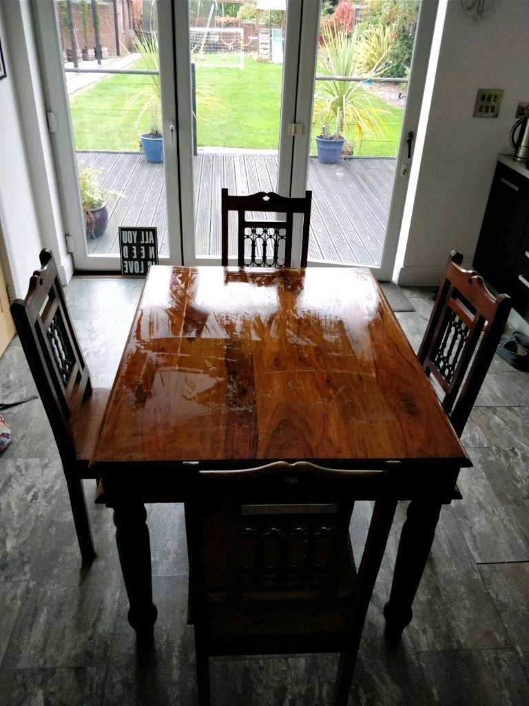 In Liverpool Pertaining To Latest Sheesham Dining Tables And 4 Chairs (View 23 of 25)