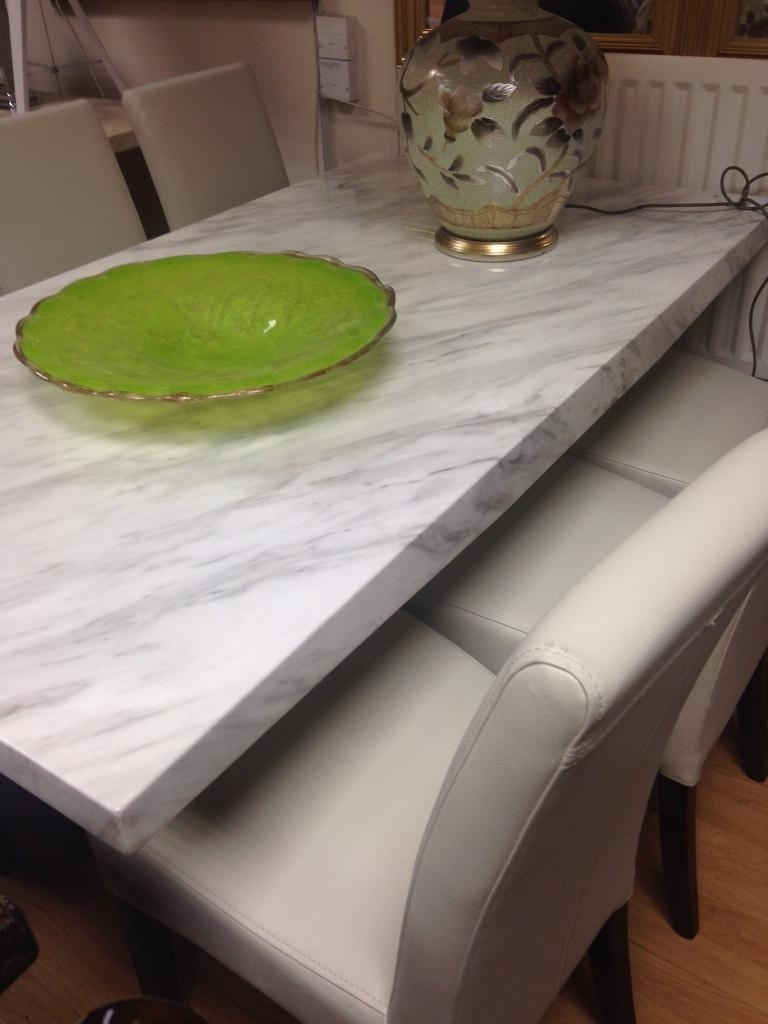 In Nottingham with regard to Famous Marble Effect Dining Tables And Chairs