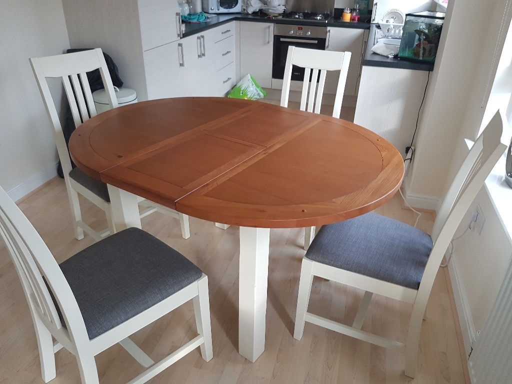 In Regarding Trendy Round Extending Dining Tables (View 12 of 25)