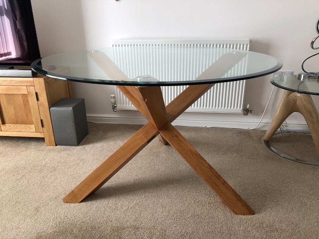 In Swindon Pertaining To Well Liked Oak And Glass Dining Tables And Chairs (View 10 of 25)