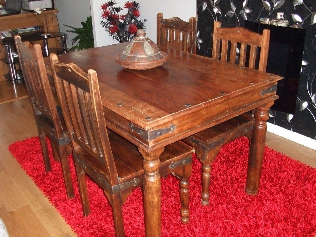 In Uttoxeter For Sheesham Dining Tables And 4 Chairs (View 8 of 25)
