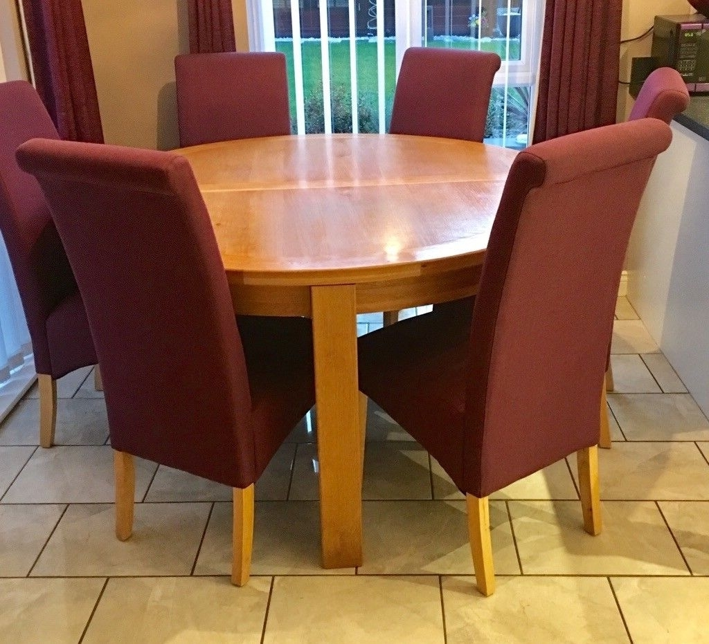 In Wallsend, Tyne And Pertaining To Most Up To Date Oak Dining Tables With 6 Chairs (View 24 of 25)