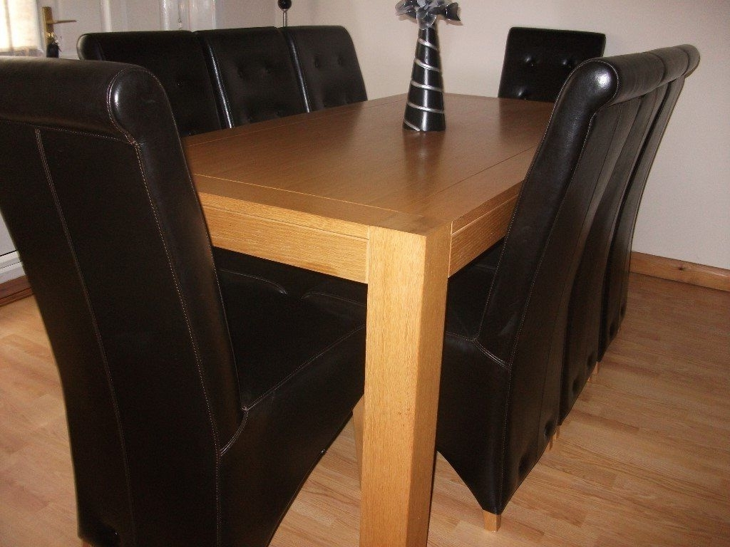 In with 8 Seater Oak Dining Tables