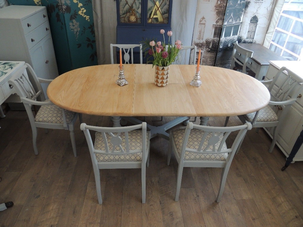 In With Newest Shabby Chic Extendable Dining Tables (View 12 of 25)