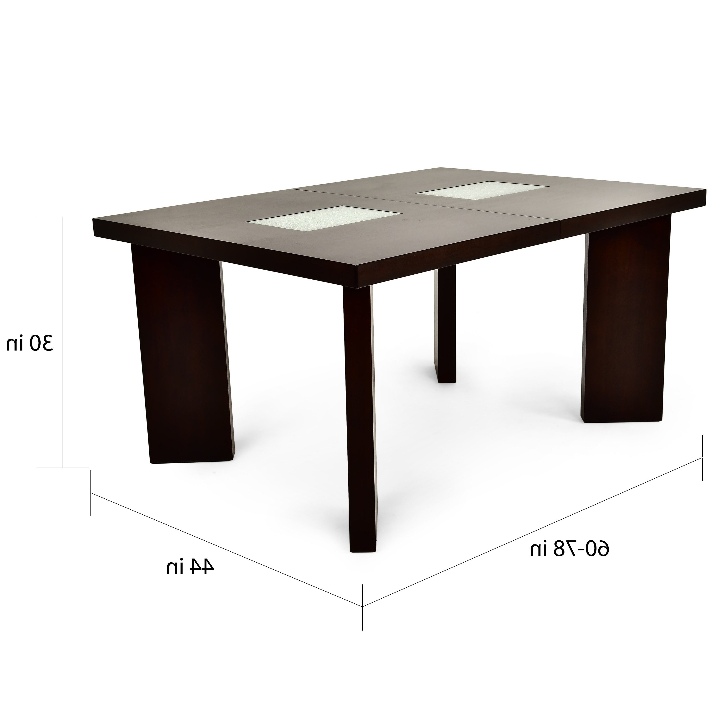 Ina Matte Black 60 Inch Counter Tables With Frosted Glass Intended For Most Current Shop Oliver & James Stoddart 6.5 Foot Espresso Finished Table – Free (Gallery 13 of 25)