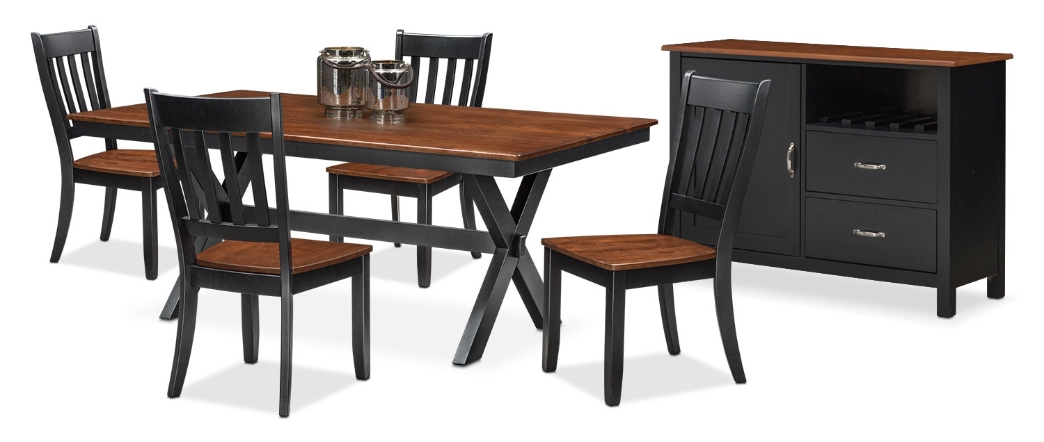 Indian Dining Chairs For Famous The Nantucket Dining Collection – Black And Cherry (View 9 of 25)