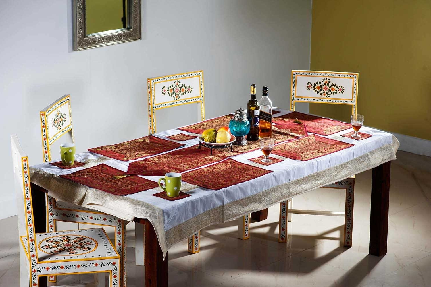 Indian Dining Room Furniture In Well Liked Shop Online Indian Silk Dining Table Runner Dining Table Linen (Gallery 23 of 25)
