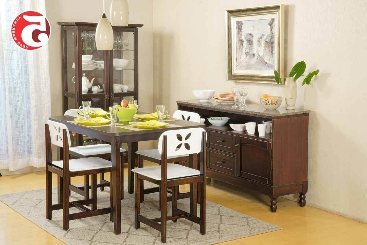 Indian Dining Tables And Chairs Inside Fashionable Four Seater Dining Table Set (View 22 of 25)