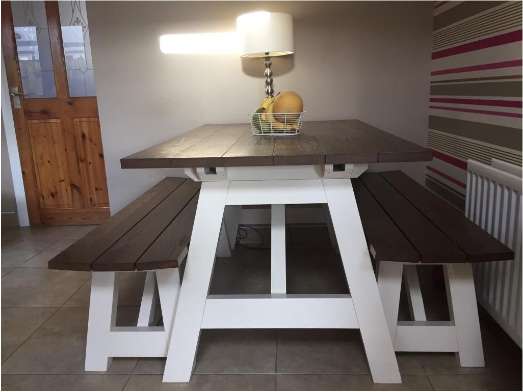 Indoor Picnic Style Dining Tables Intended For Fashionable Great Impressive Bench Style Dining Table 1 Modern Set Ideas Fine (View 11 of 25)