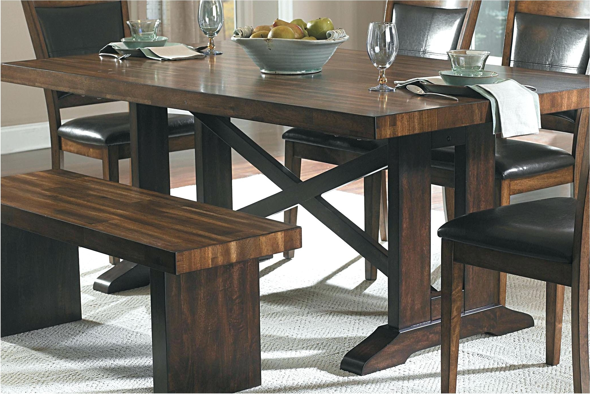 Indoor Picnic Style Dining Tables Pertaining To Most Recent Terrific Picnic Table Dining Room New Picnic Style Dining Room Table (View 14 of 25)