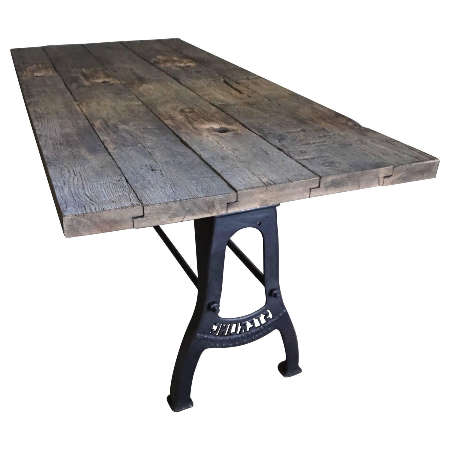 Industrial Brushed Metal Dining Table Early 20Th Century At 1Stdibs in Favorite Brushed Metal Dining Tables