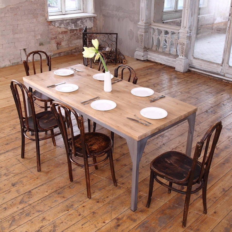 Industrial Style Contemporary Dining Tablecosywood With Best And Newest Industrial Style Dining Tables (Gallery 1 of 25)