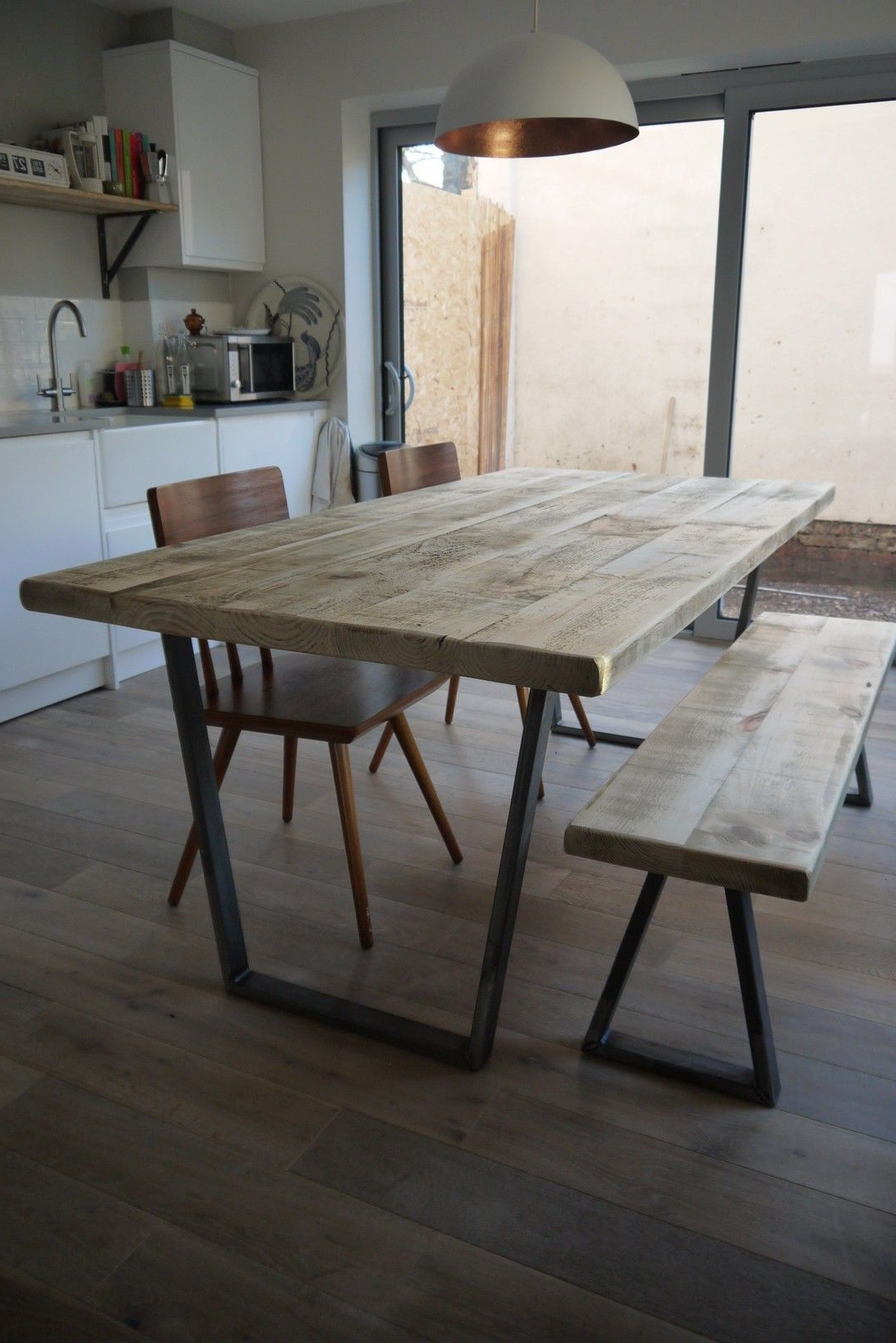 Industrial Style Dining Tables for Fashionable John Lewis Calia Style Extending Vintage Industrial Reclaimed Top