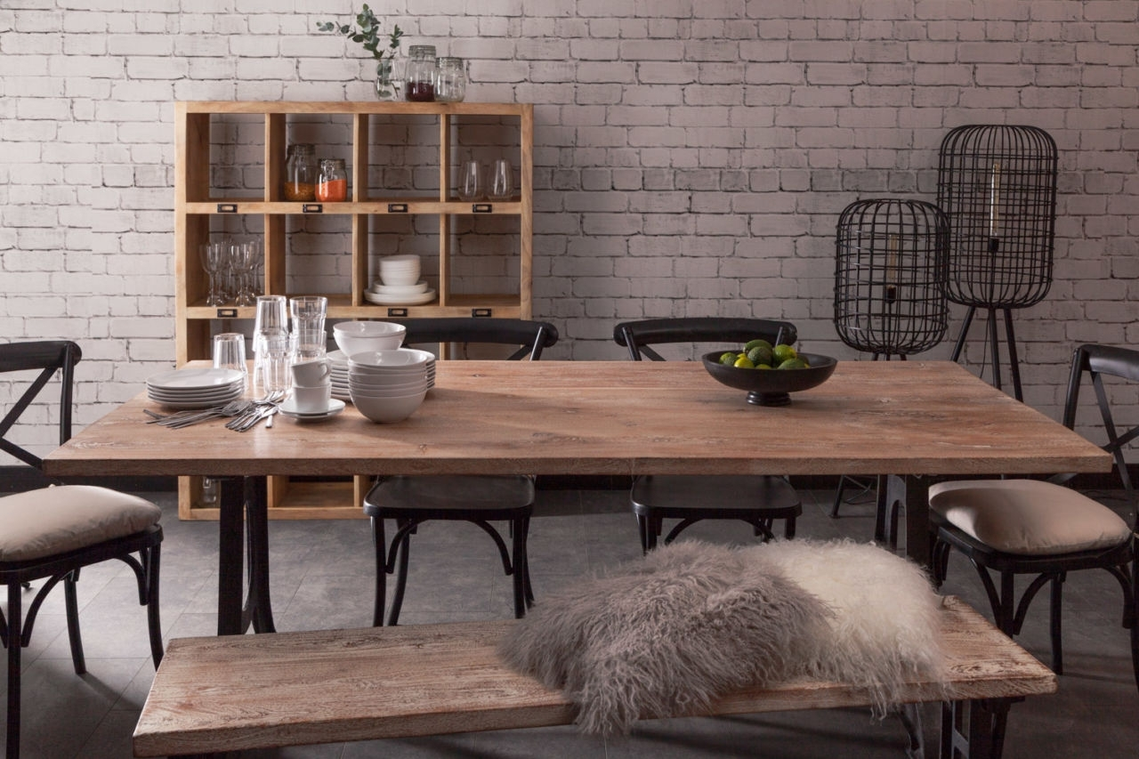 Industrial Style Dining Tables Regarding Newest Toby Industrial Style Dining Table – Industrial Chic Style Furniture (View 2 of 25)