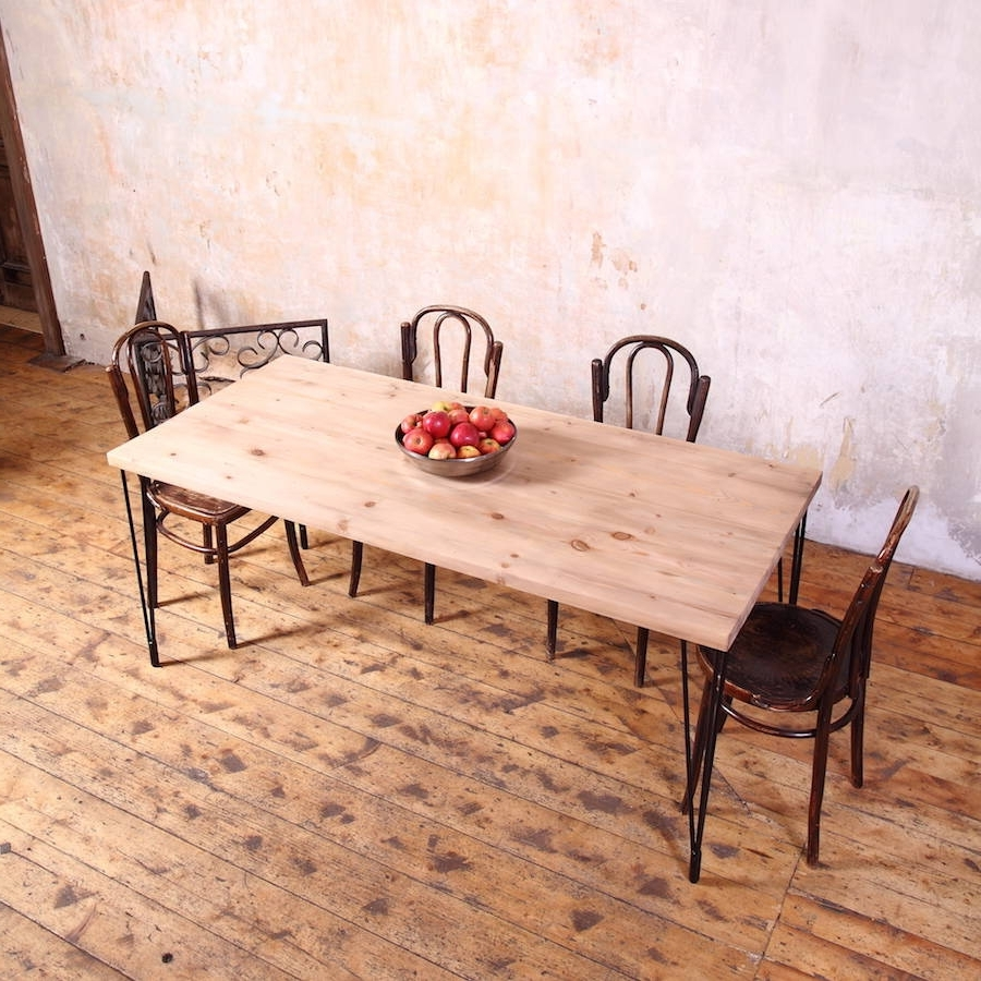 Industrial Style Dining Tables Regarding Widely Used Hairpin Legs Industrial Style Dining Tablecosywood (View 11 of 25)