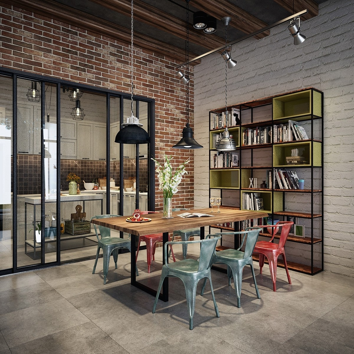 Industrial Style Dining Tables throughout 2018 Industrial Style Dining Table. Mahogany Filing Cabinet 2 Drawer