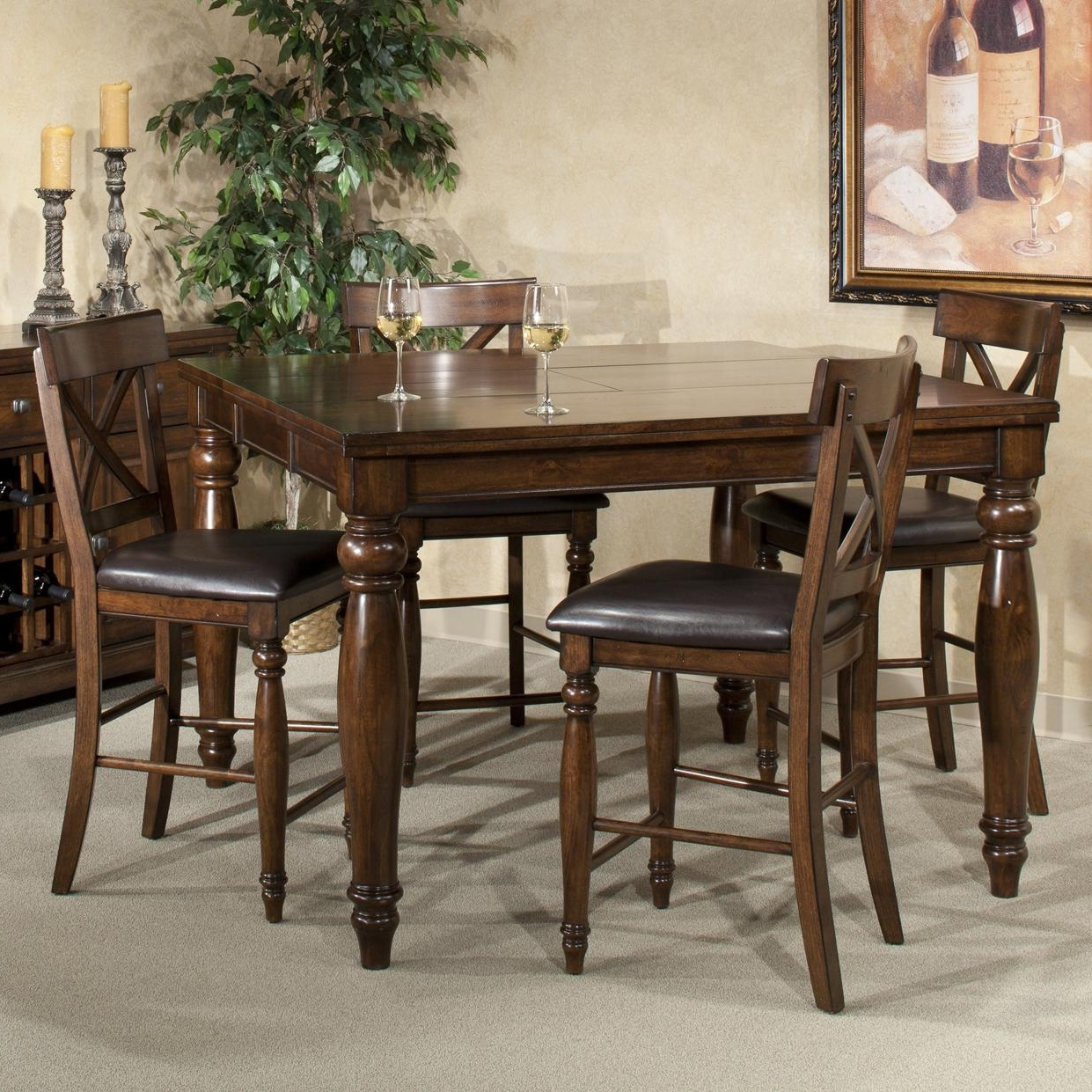Intercon Kingston Five Piece Gathering Table And Stool Set Throughout Preferred Kingston Dining Tables And Chairs (View 6 of 25)