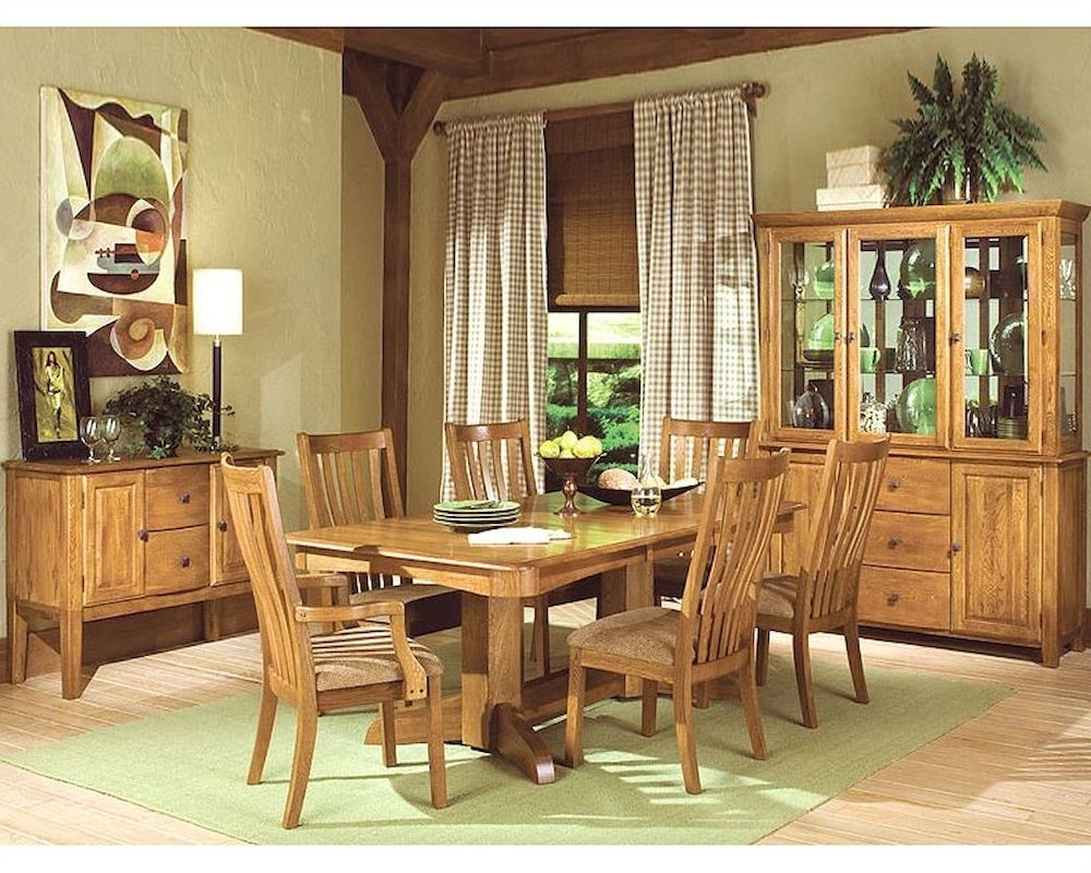 Intercon Solid Oak Dining Set Highland Park Inhp4296Set Inside Most Up To Date Oak Dining Sets (Gallery 20 of 25)