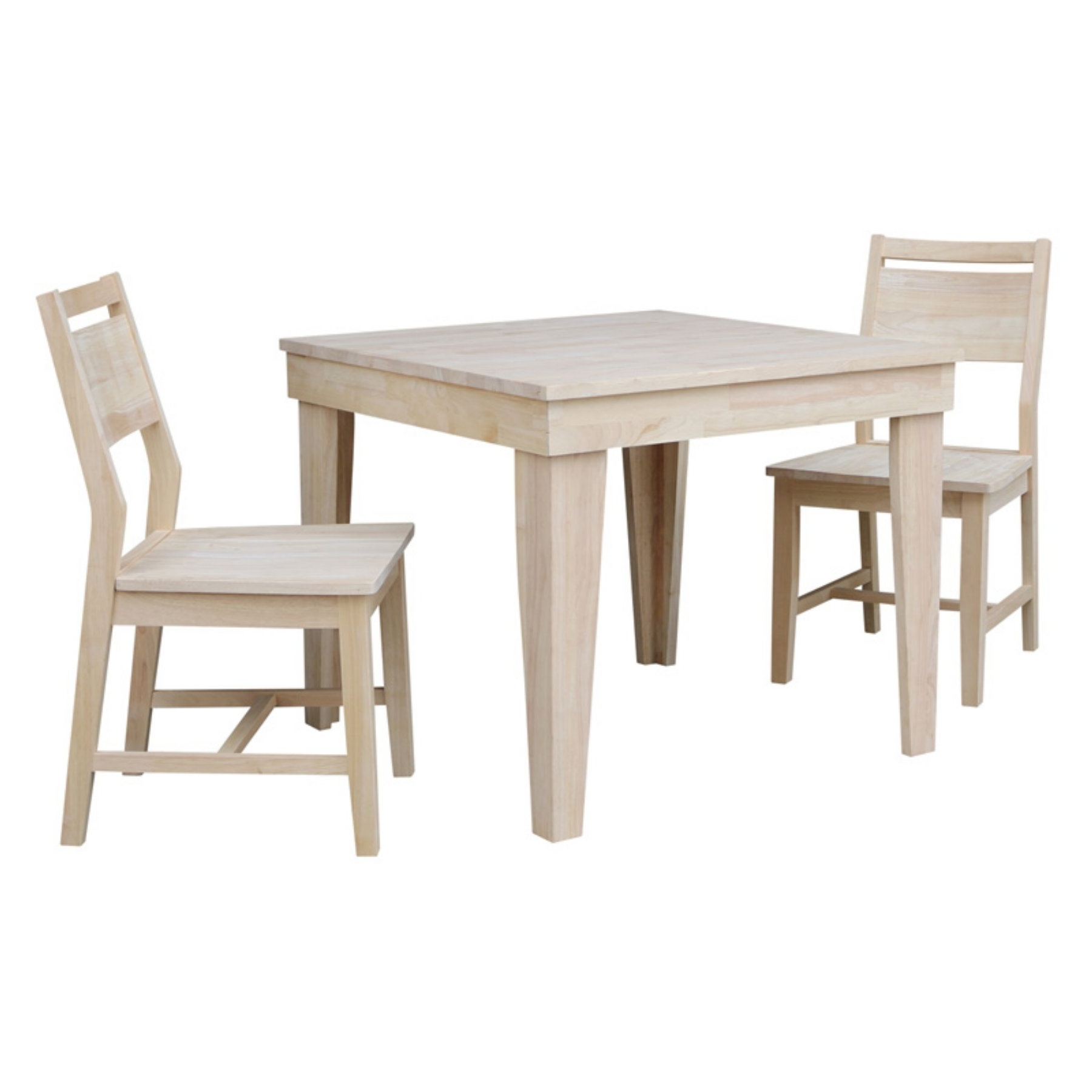 International Concepts Aspen 3 Piece Square Dining Table Set With Inside Newest Craftsman 7 Piece Rectangle Extension Dining Sets With Side Chairs (View 19 of 25)