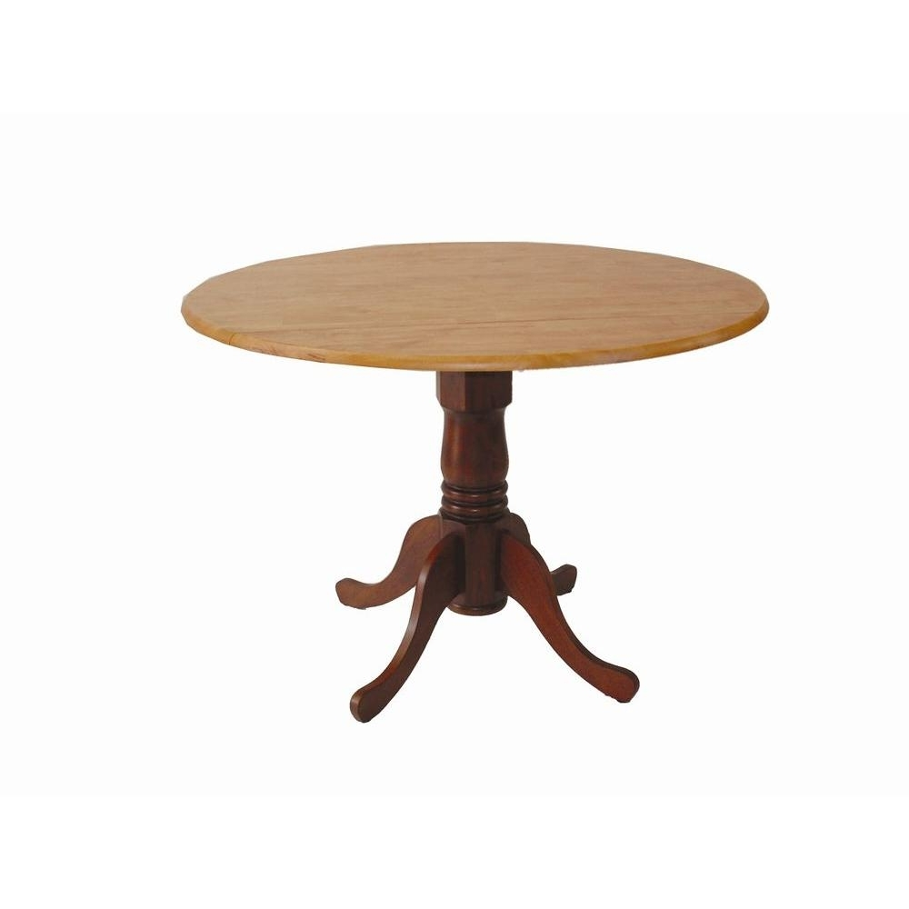 International Concepts Cinnamon And Espresso Drop-Leaf Dining Table in Latest Cheap Drop Leaf Dining Tables