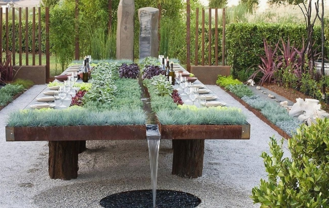 Irrigated Garden Dining Table : Interestingasfuck with 2018 Garden Dining Tables