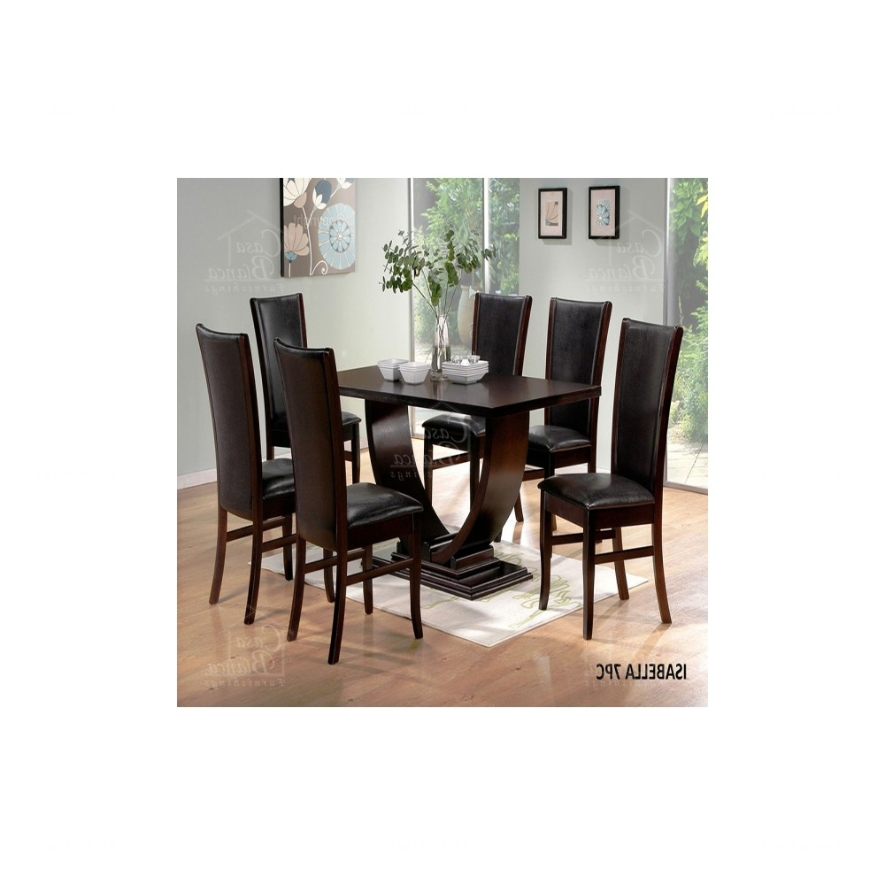 Isabella 7 Piece Dining Set Pertaining To Well Known Isabella Dining Tables (Gallery 5 of 25)