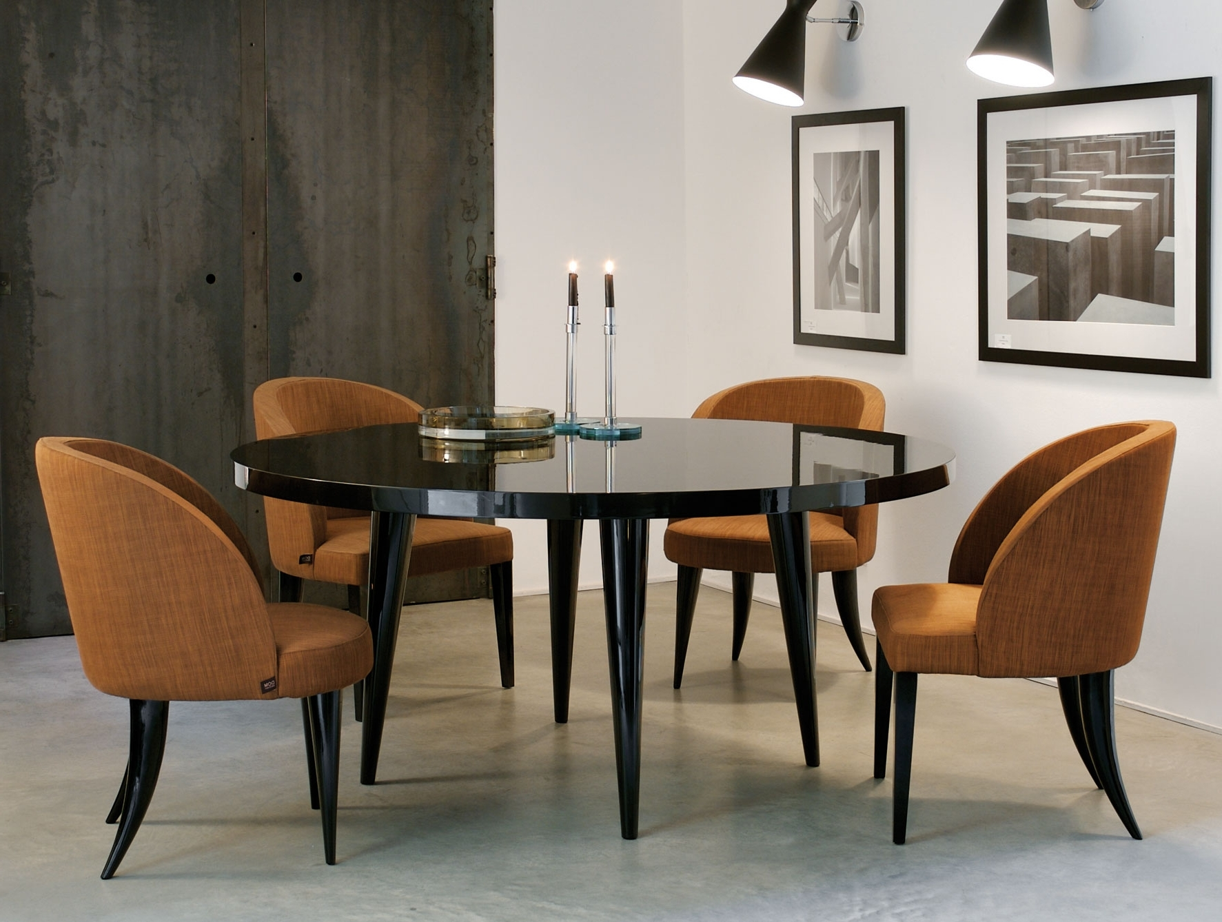 Italian Dining Tables within Popular Nella Vetrina Elle Modern Italian Round Lacquered Wood Dining Table