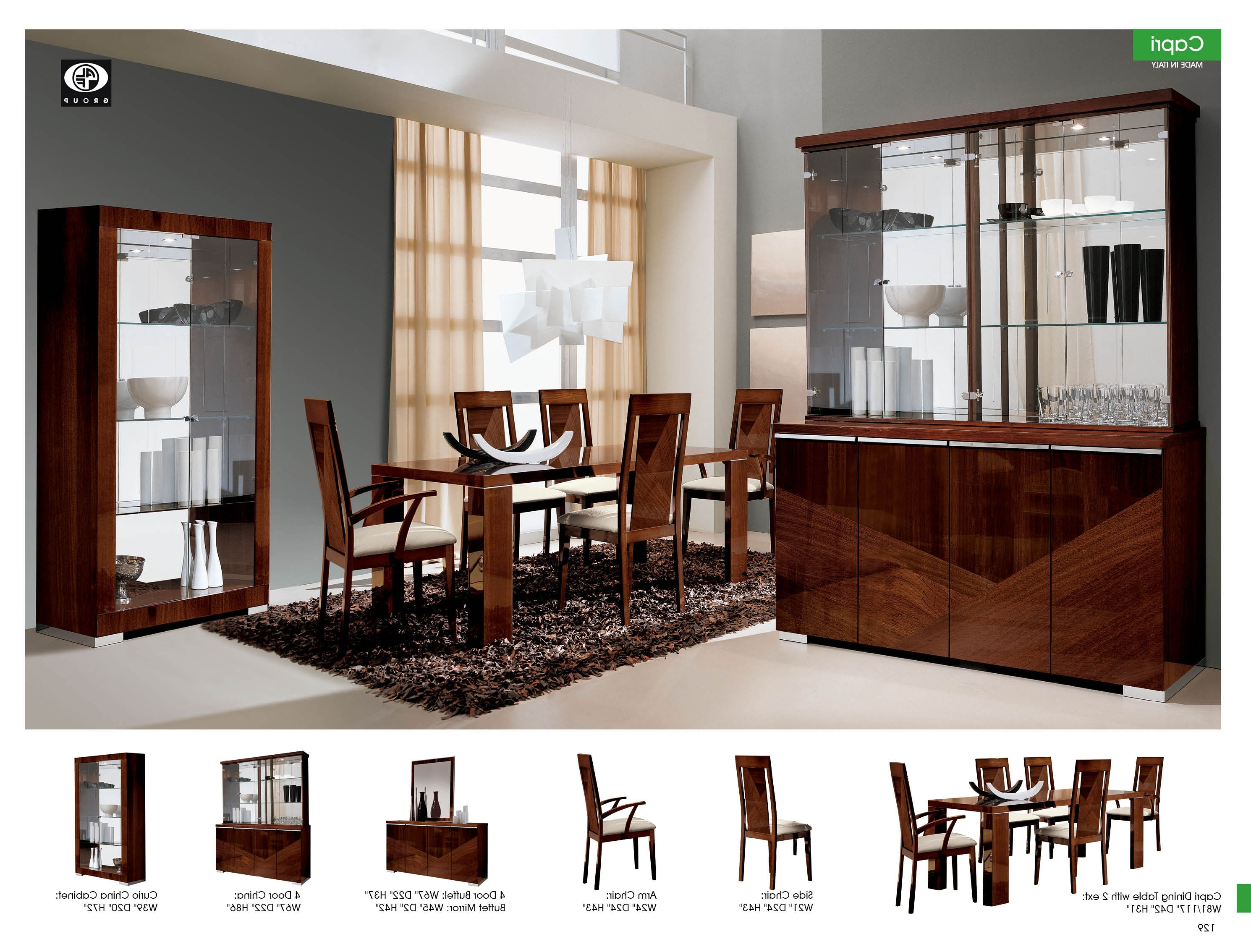 Jakob Furniture – Capri Dining Room Pertaining To Well Liked Modern Dining Room Furniture (Gallery 18 of 25)
