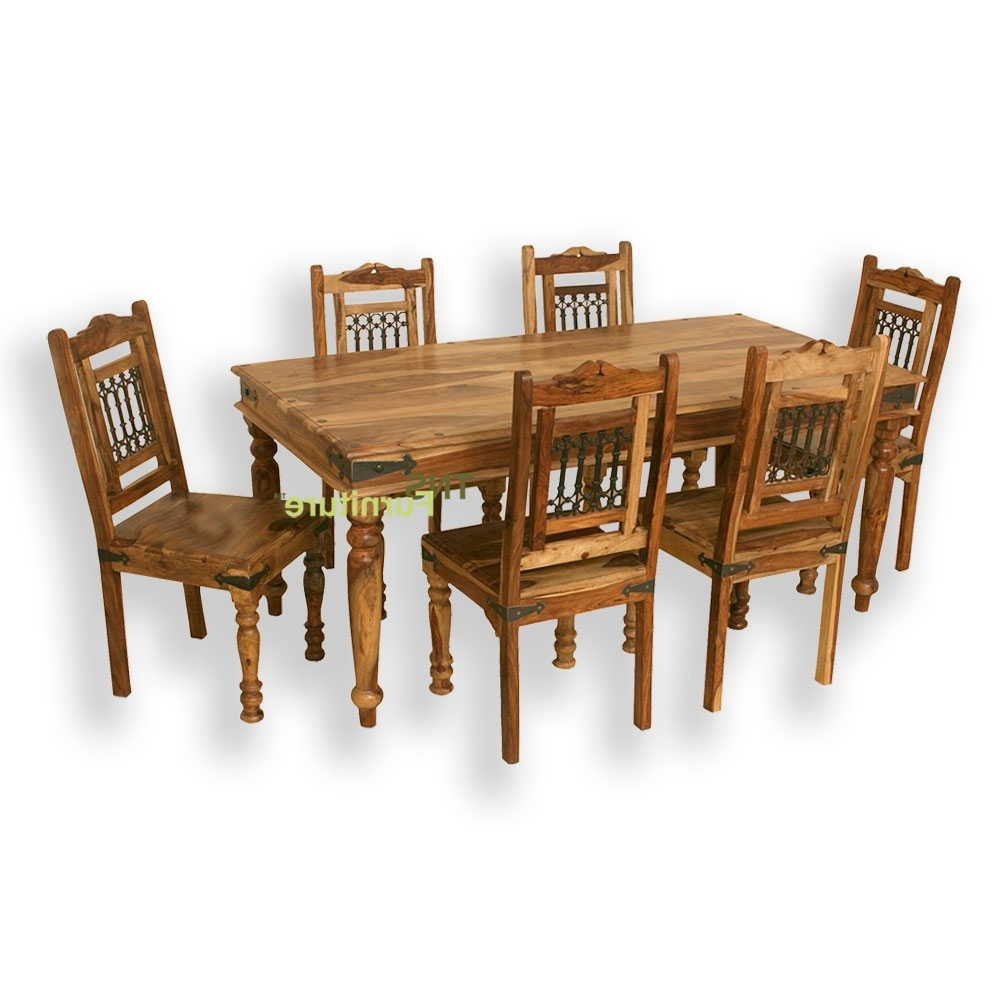 Jali 175Cm Dining Table Pertaining To Well Liked Indian Wood Dining Tables (View 10 of 25)