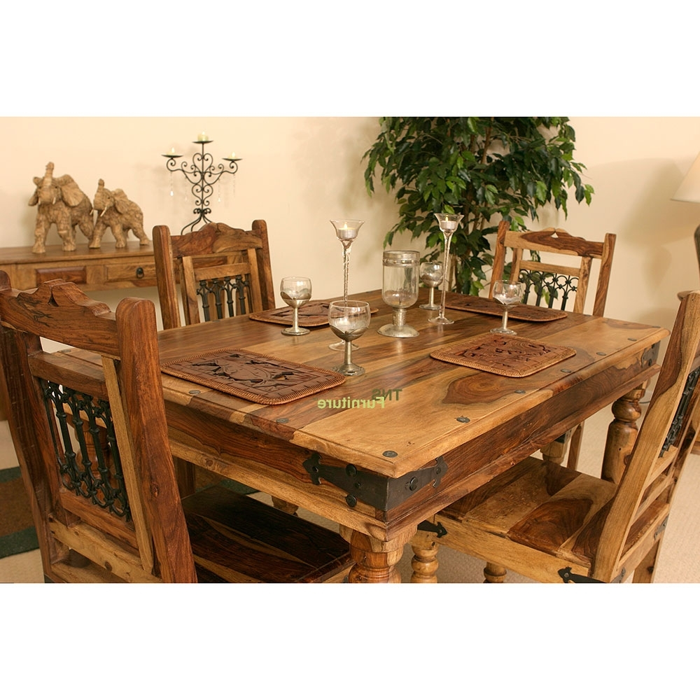 Jali 90Cm Dining Table For Sheesham Dining Tables And Chairs (Gallery 13 of 25)