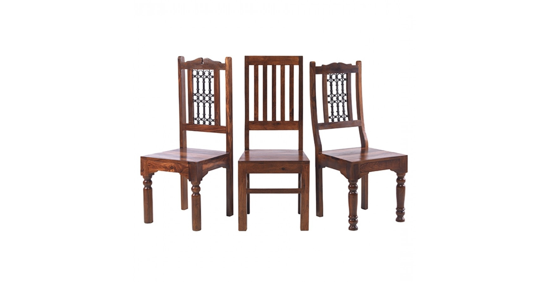 Jali Sheesham 120 Cm Chunky Dining Table And 4 Chairs – Lifestyle Throughout Famous Sheesham Wood Dining Chairs (View 5 of 25)