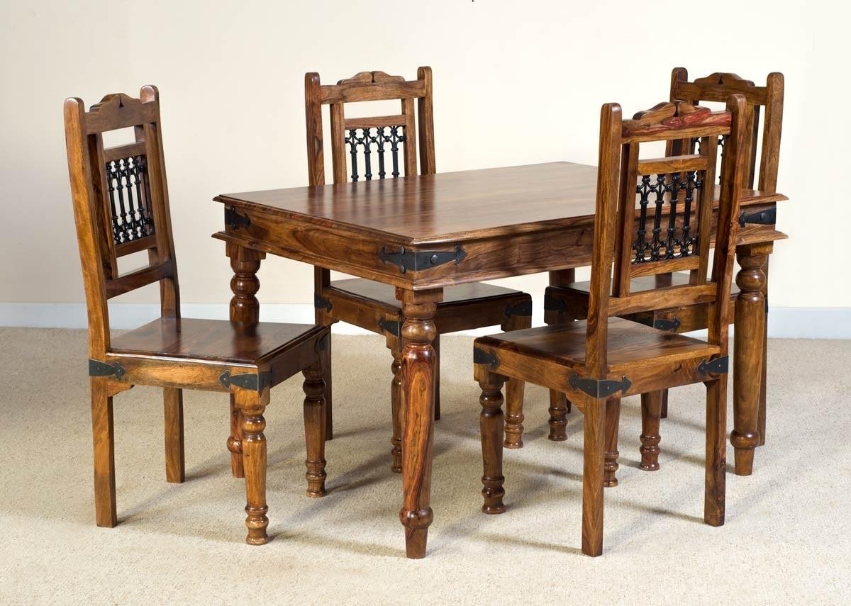 Jali Sheesham 4 Seater Dining Set (View 17 of 25)