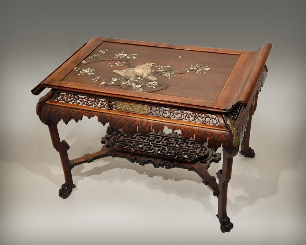 Japanese Style Table With Partridge – Gueridons, Stands, Pedestals Throughout Most Popular Partridge Dining Tables (View 8 of 25)