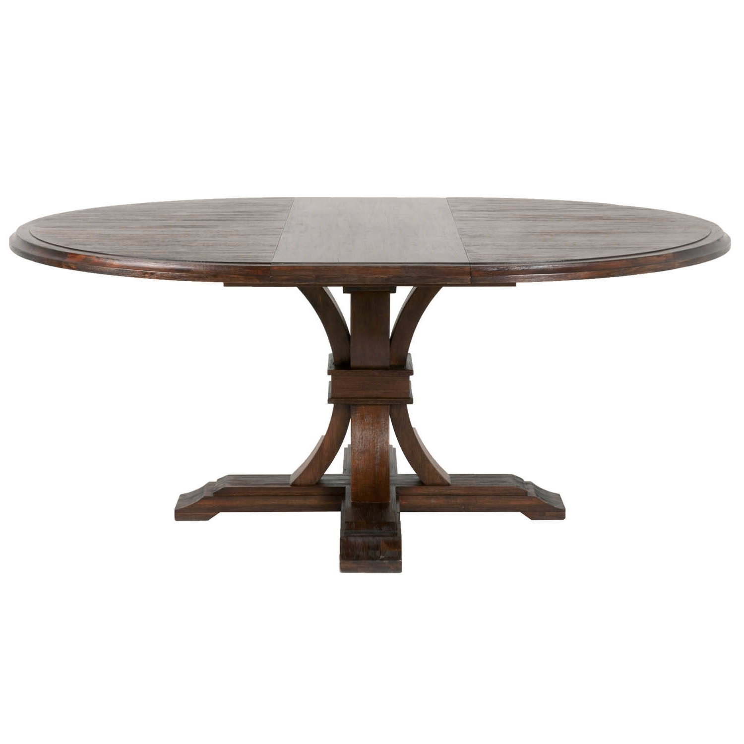 Java Dining Tables inside 2017 Orient Express Devon Rustic Java 54 Inch Round Extension Dining