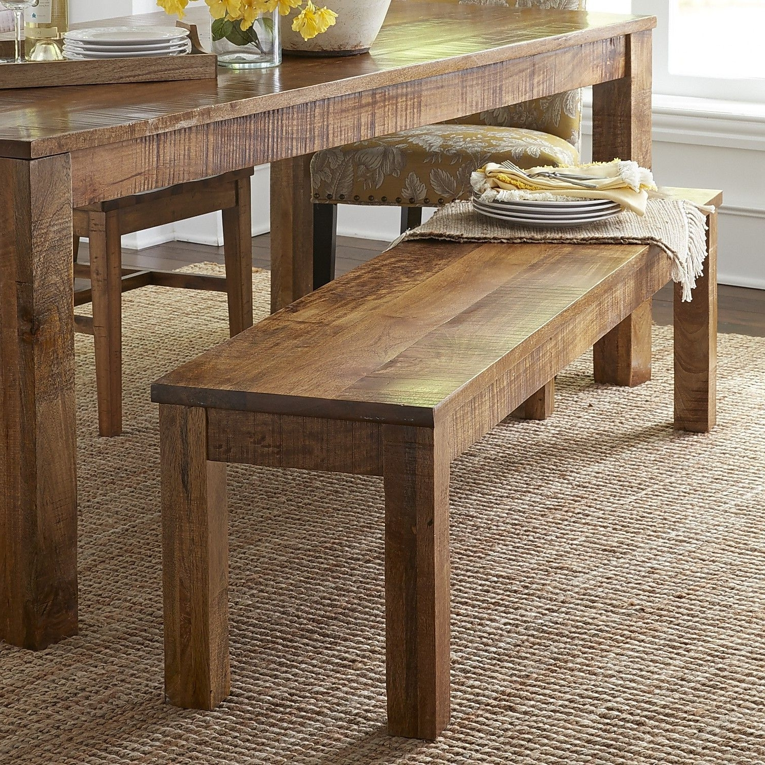 Java Dining Tables Regarding Well Known Parsons Java Dining Bench (Gallery 10 of 25)