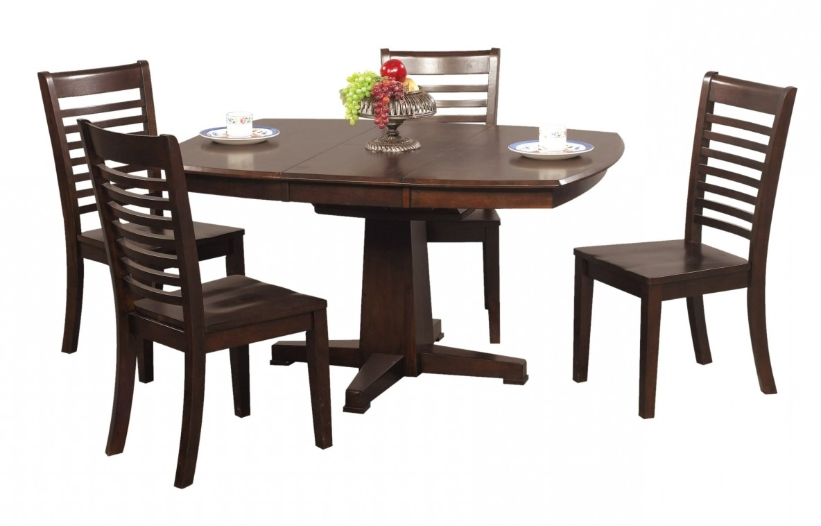 Jaxon 5 Piece Extension Counter Sets With Wood Stools within Trendy Santa Fe 42 X 57 Pedestal Table - Fanny's Furniture & Kitchens
