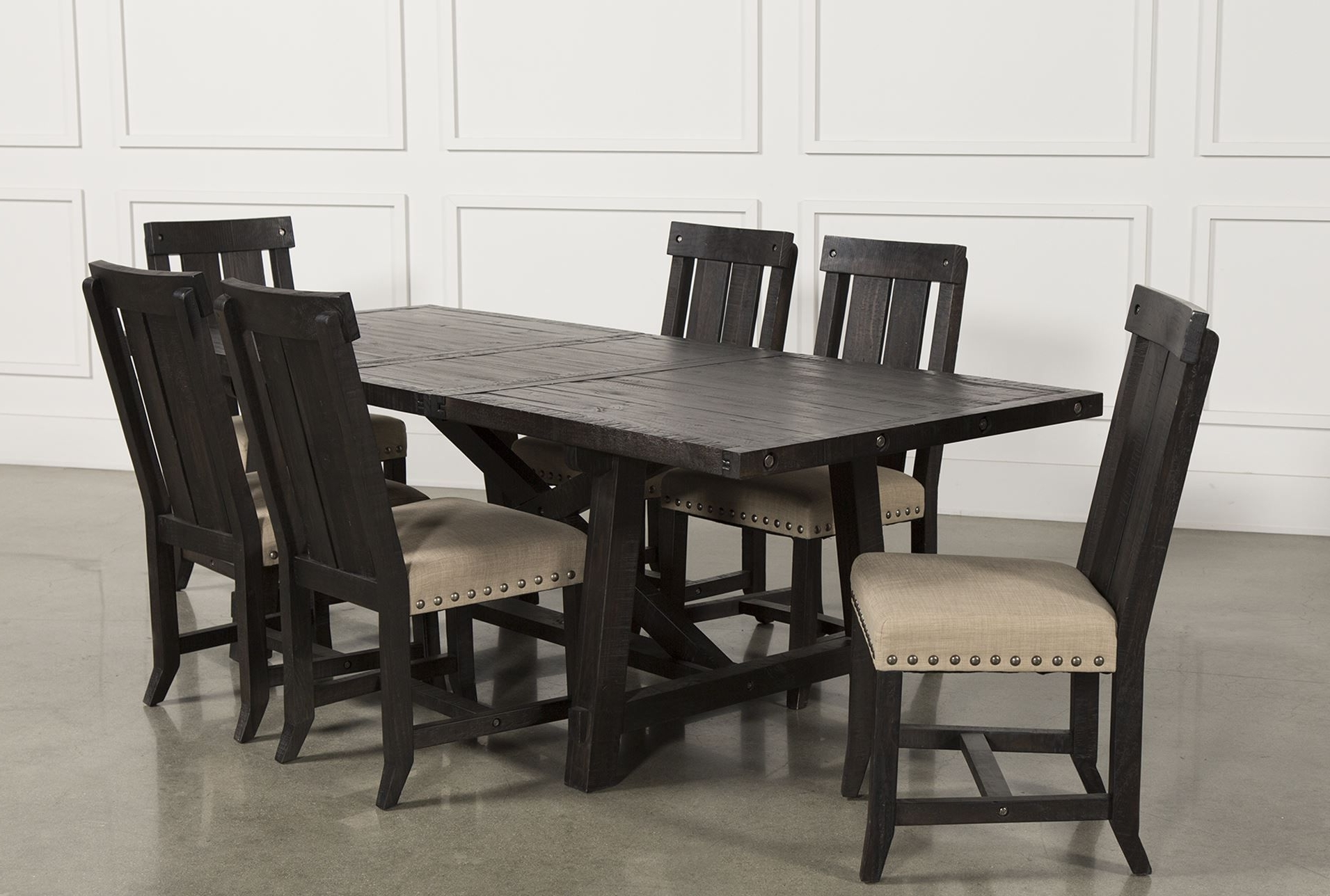 Jaxon 7 Piece Rectangle Dining Set W/wood Chairs (View 8 of 25)