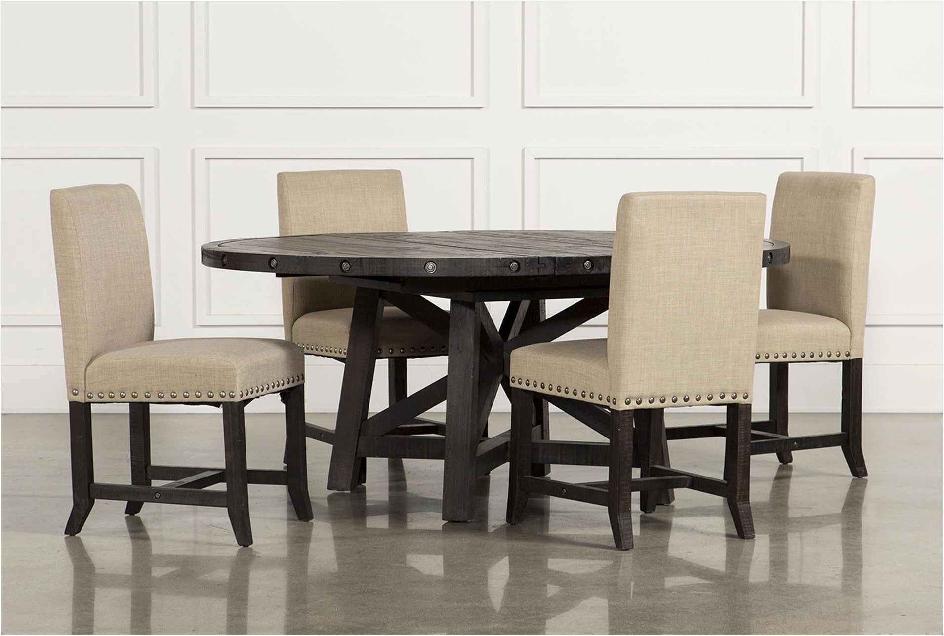 Jaxon 7 Piece Rectangle Dining Sets With Upholstered Chairs For Preferred Living Spaces Dining Room Sets Carson Ii 5 Piece Dining Set Living (View 24 of 25)