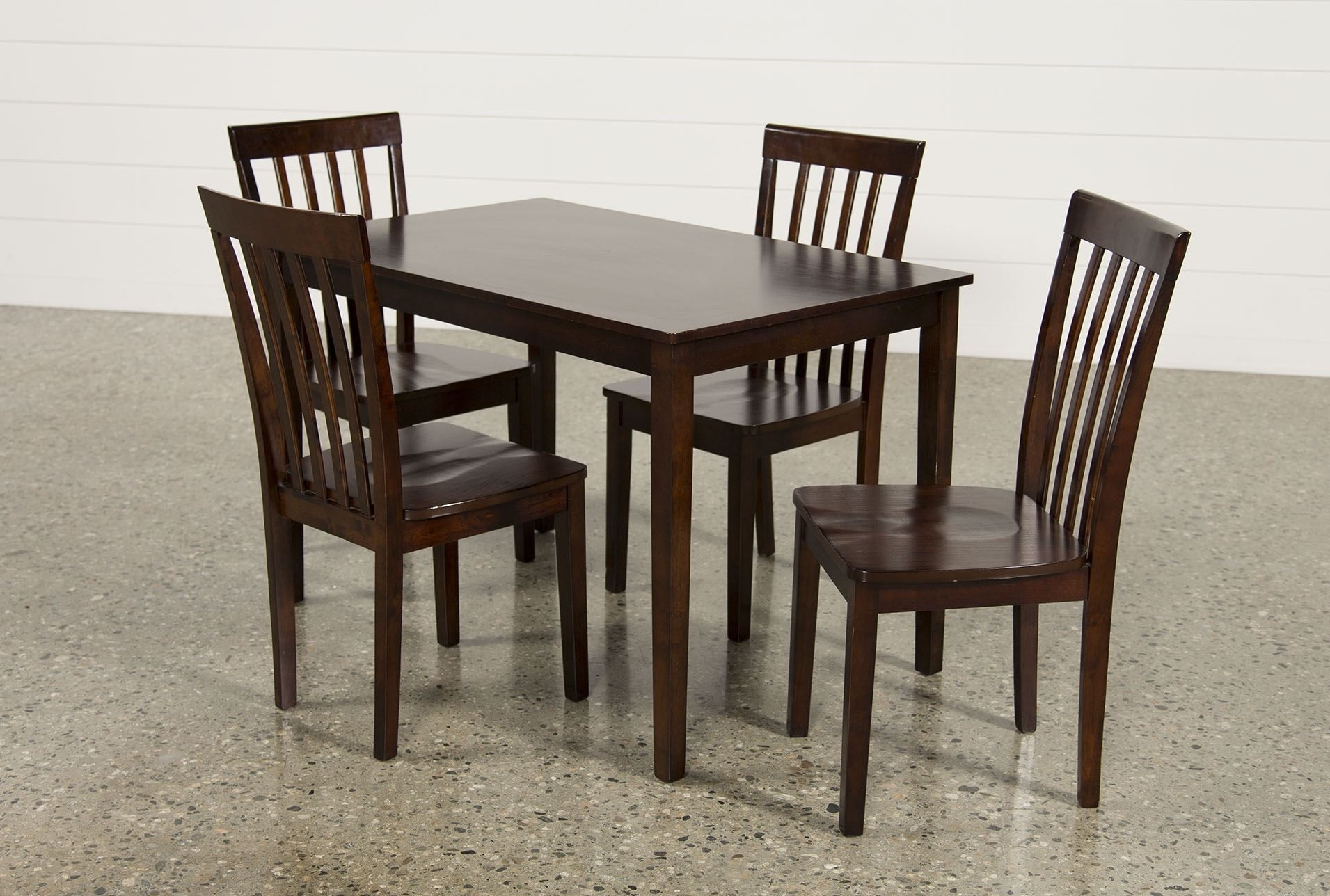 Jaxon 7 Piece Rectangle Dining Sets With Upholstered Chairs Inside Current Dining Set Living Spaces (View 21 of 25)