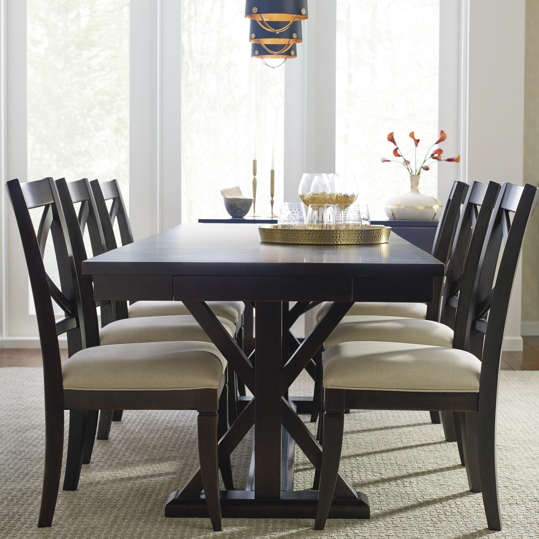 Jaxon 7 Piece Rectangle Dining Sets With Upholstered Chairs Within Trendy Remarkable Dining Room Sets With Upholstered Chairs At Modus (Gallery 18 of 25)
