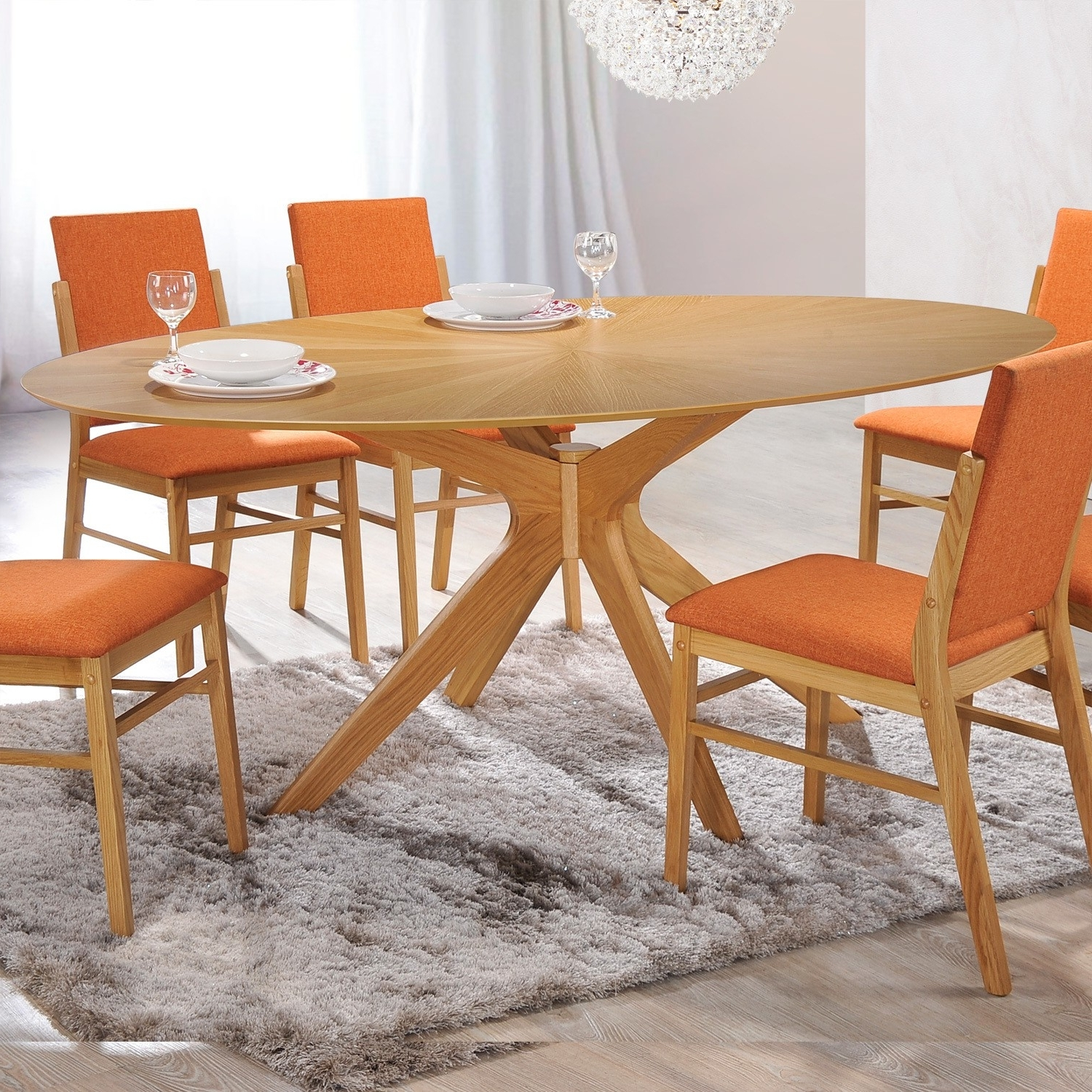 Jaxon Grey 5 Piece Round Extension Dining Sets With Wood Chairs With 2017 Dinex Alfa Extension Dining Table New Jaxon Extension Rectangle (View 16 of 25)