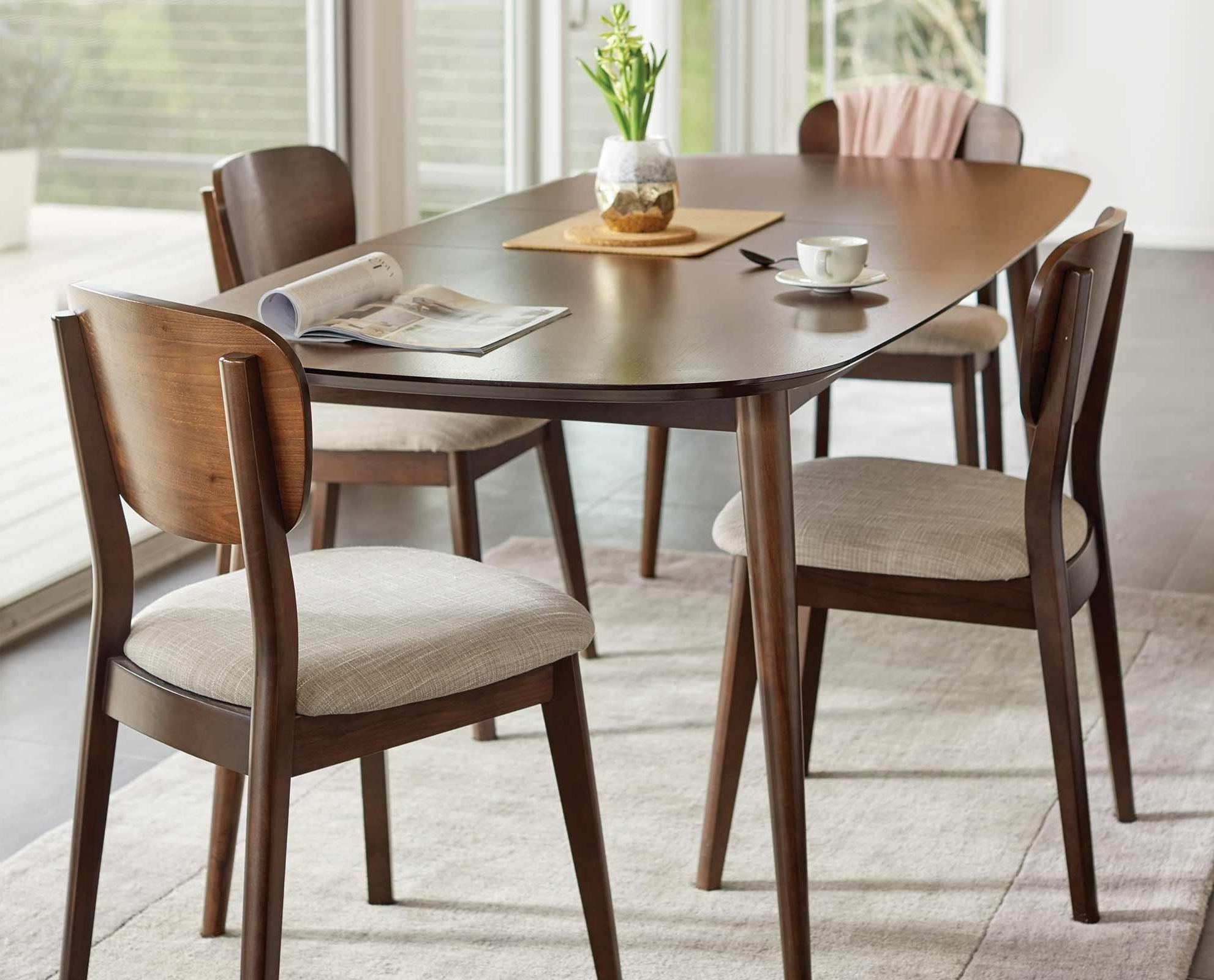Jaxon Grey 5 Piece Round Extension Dining Sets With Wood Chairs within Popular Dinex Alfa Extension Dining Table New Jaxon Extension Rectangle