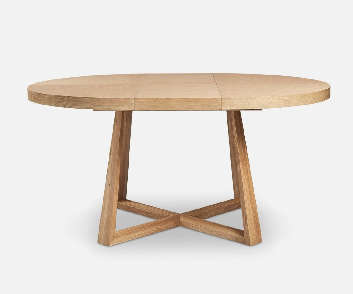 Jaxon Round Extension Dining Tables Regarding Favorite Oliver Round Extension Dining Table – Dania Furniture – Round (Gallery 20 of 25)