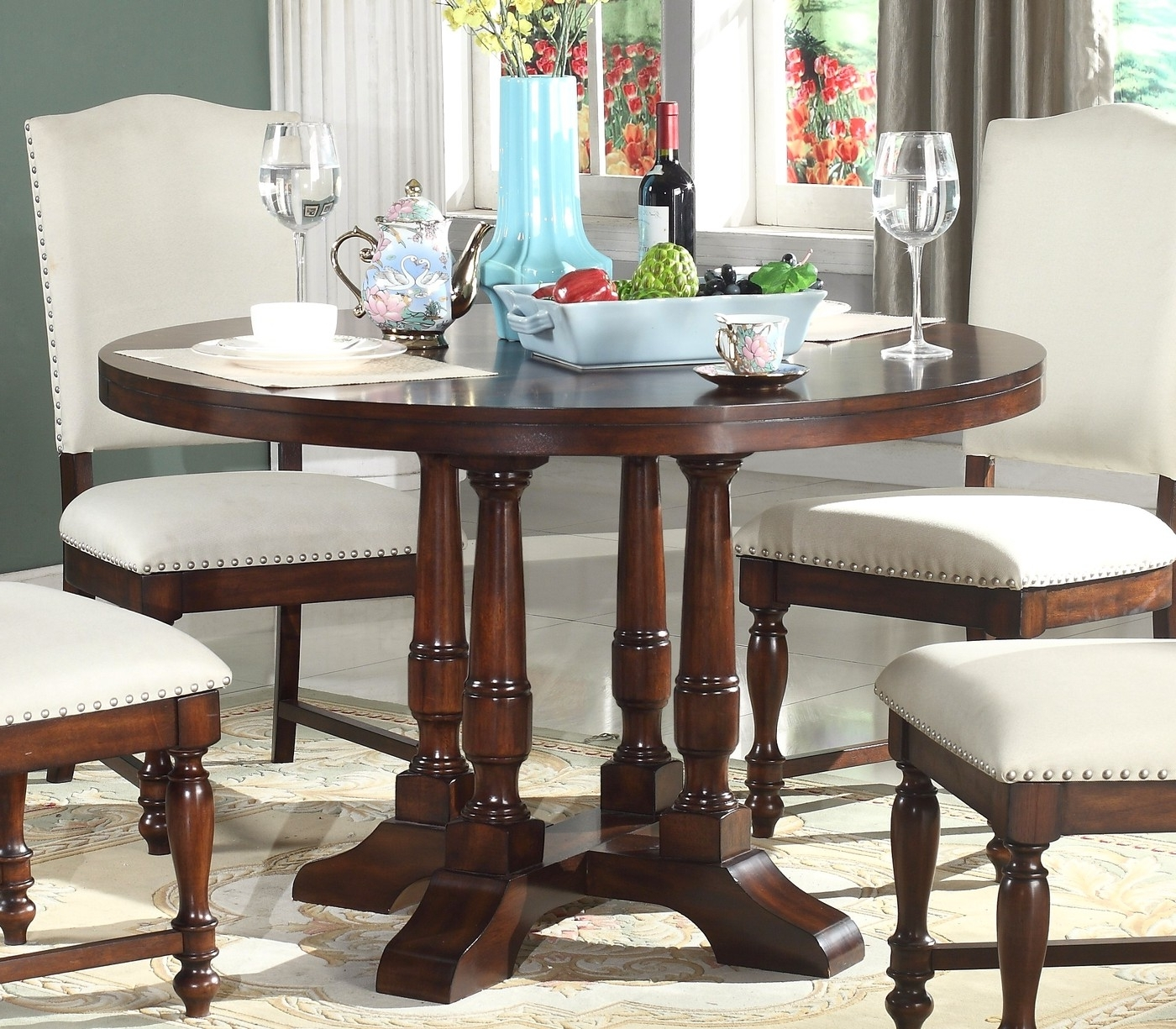 Jefferson Extension Round Dining Tables Throughout 2017 Dining Table Extension : Home Interior Design – Tips Build 48 Round (View 17 of 25)