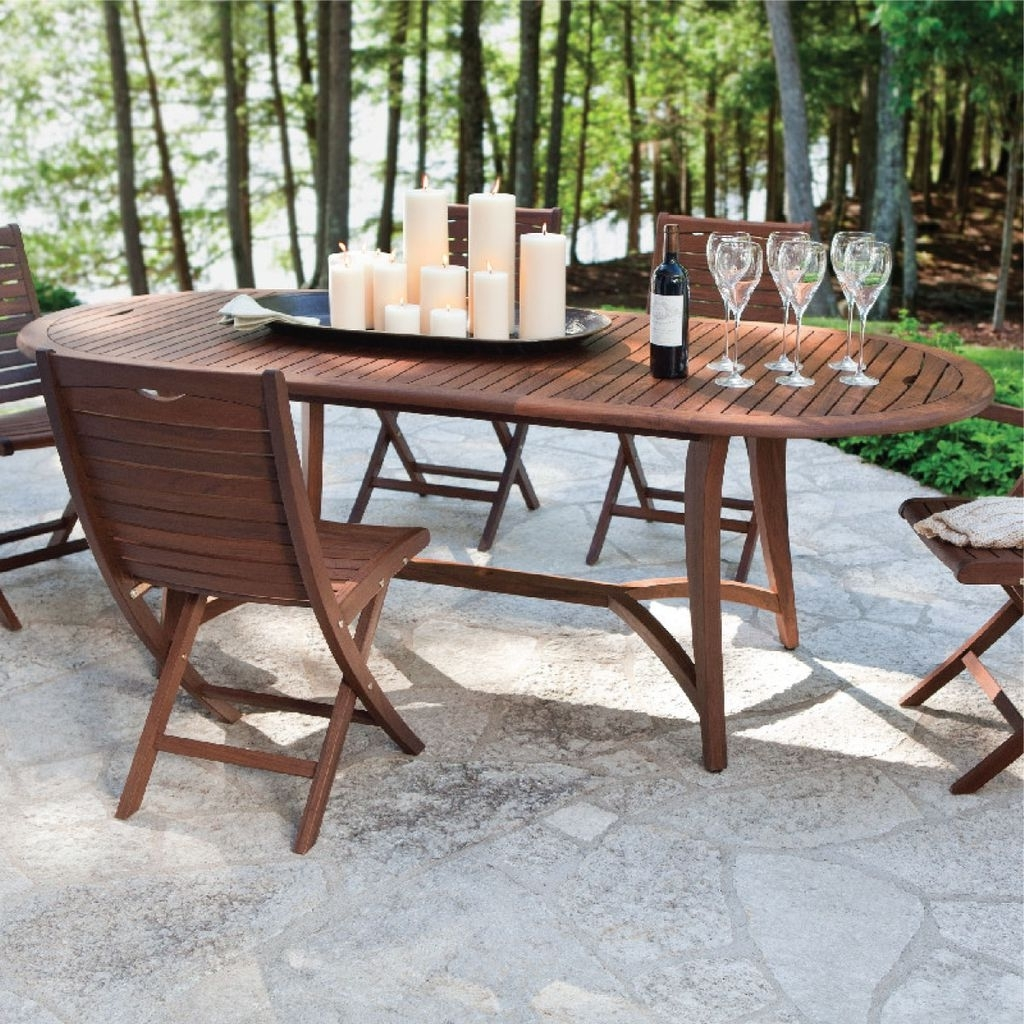 Jensen Leisure Furniture Topaz Oval Extending Dining Table – Kolo For Most Current Extending Outdoor Dining Tables (View 11 of 25)