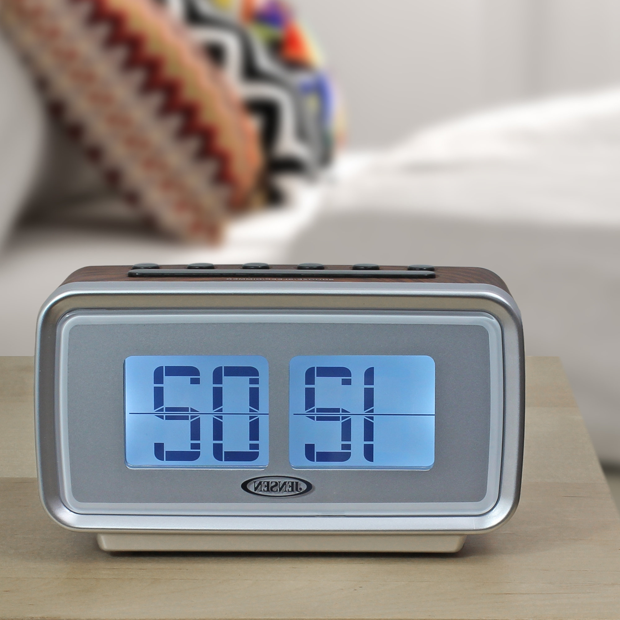 "Jensen Mobile Am/fm Dual Alarm Clock With Digital Retro ""flip For Well Known Jensen 5 Piece Counter Sets (View 14 of 25)"