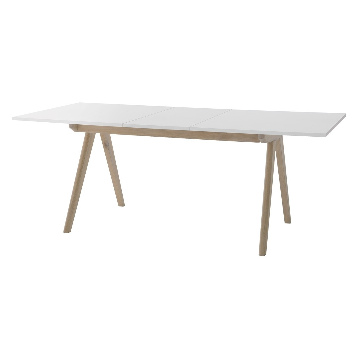 Jerry 4-8 Seat White Extending Dining Table