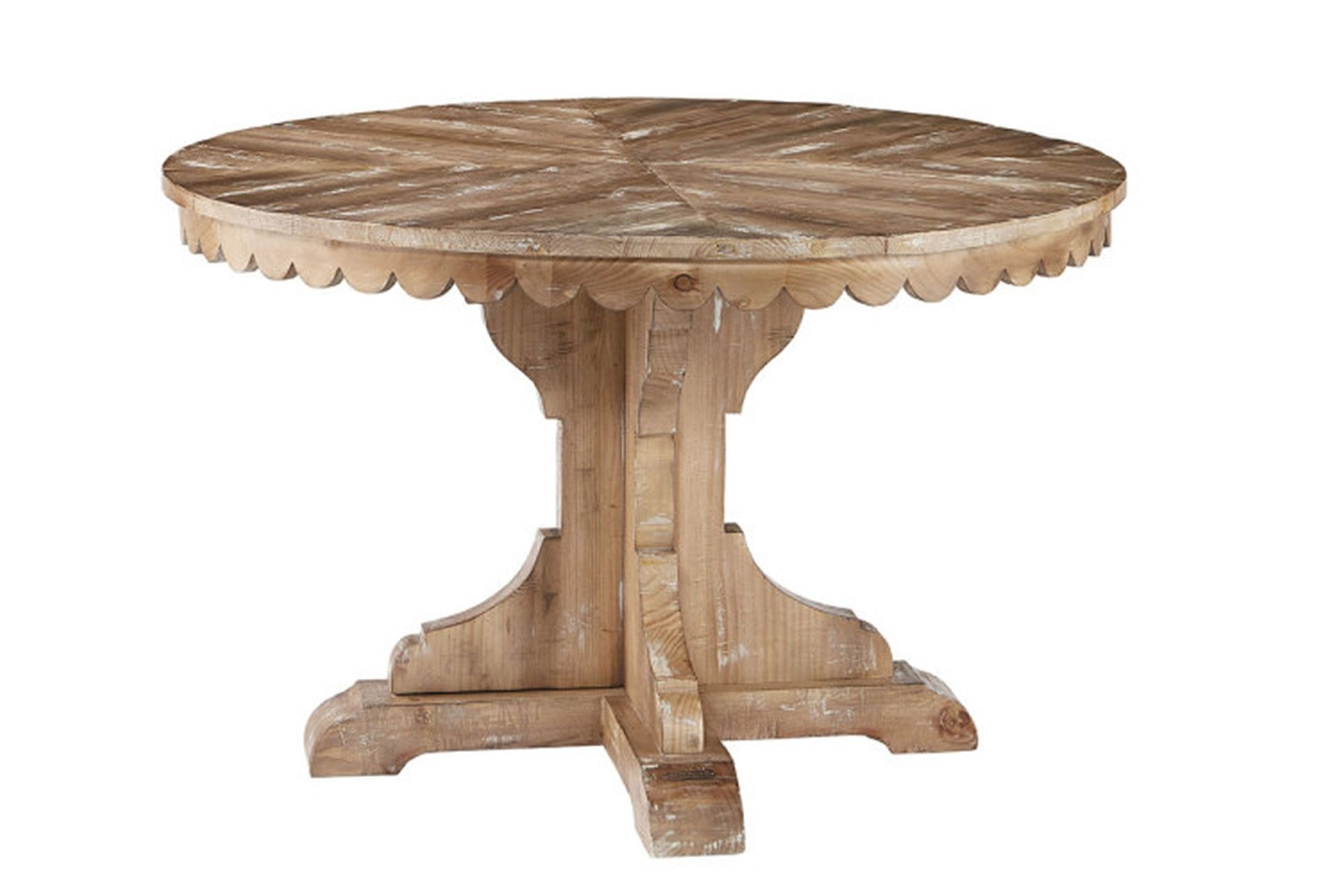 Joanna Pertaining To Newest Magnolia Home Taper Turned Bench Gathering Tables With Zinc Top (View 5 of 25)